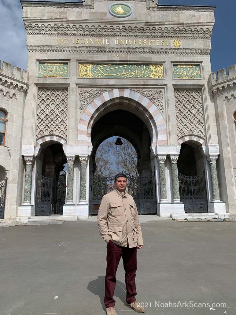 The professor of archeo-geophysics and geophysical engineering (Istanbul University-Cerrahpaşa).