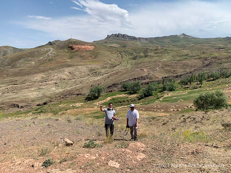 Zafer Onay and the professor of geology and geophysics at the Durupinar Noah's ark site.
