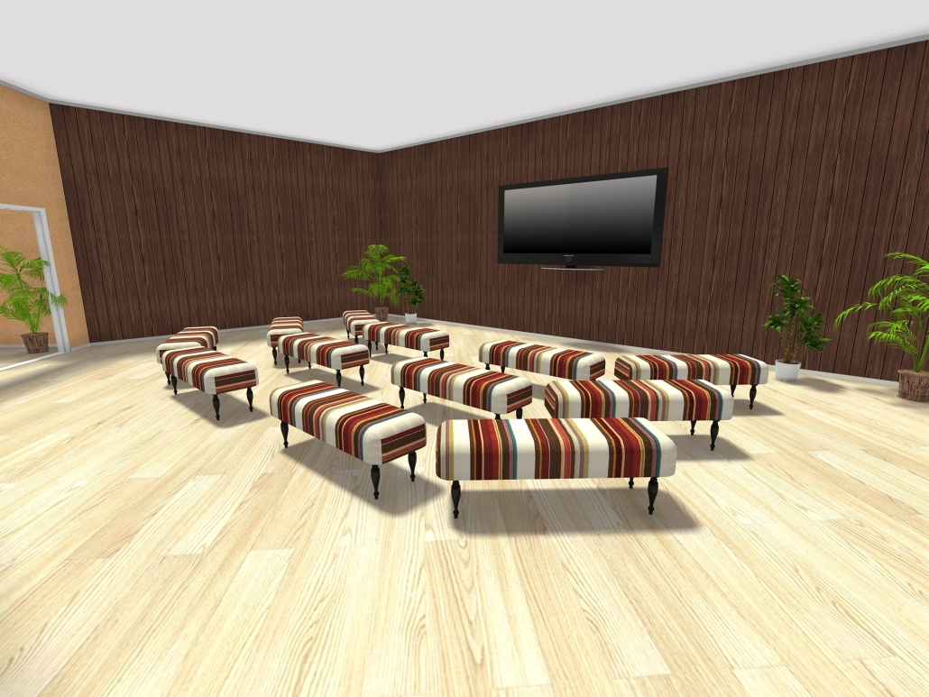3D model of the new theater plans.