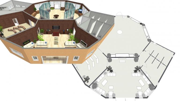 Noahs ark visitor center - new 3D plans