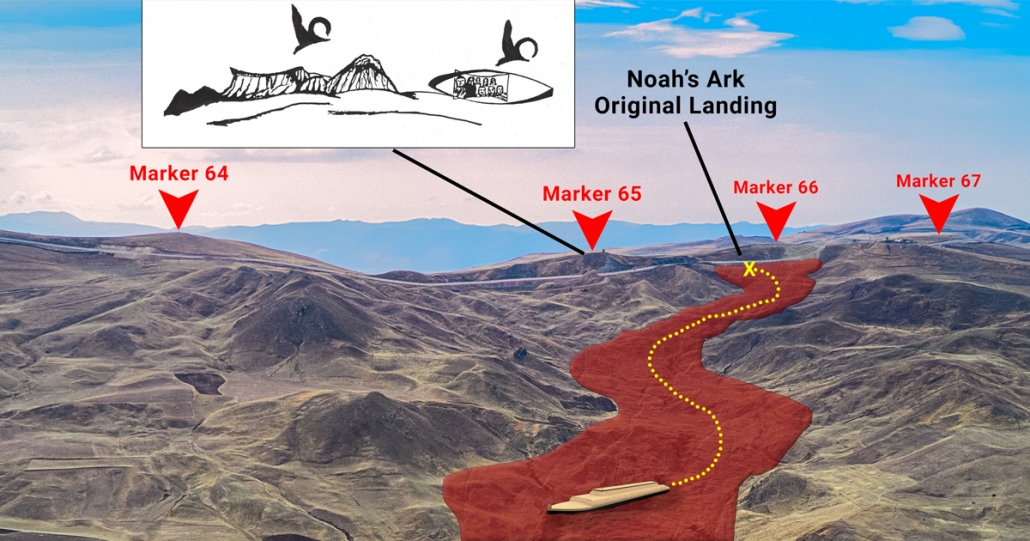 Original landing site of Noah's ark-search for ancient inscriptions on the border