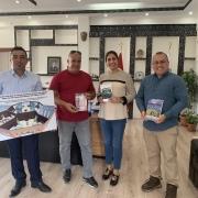Zafar Onay and his neighborhood section chief along with Andrew Jones meeting the mayor of Doğubayazıt, Yildiz Acar, on July 16, 2021.