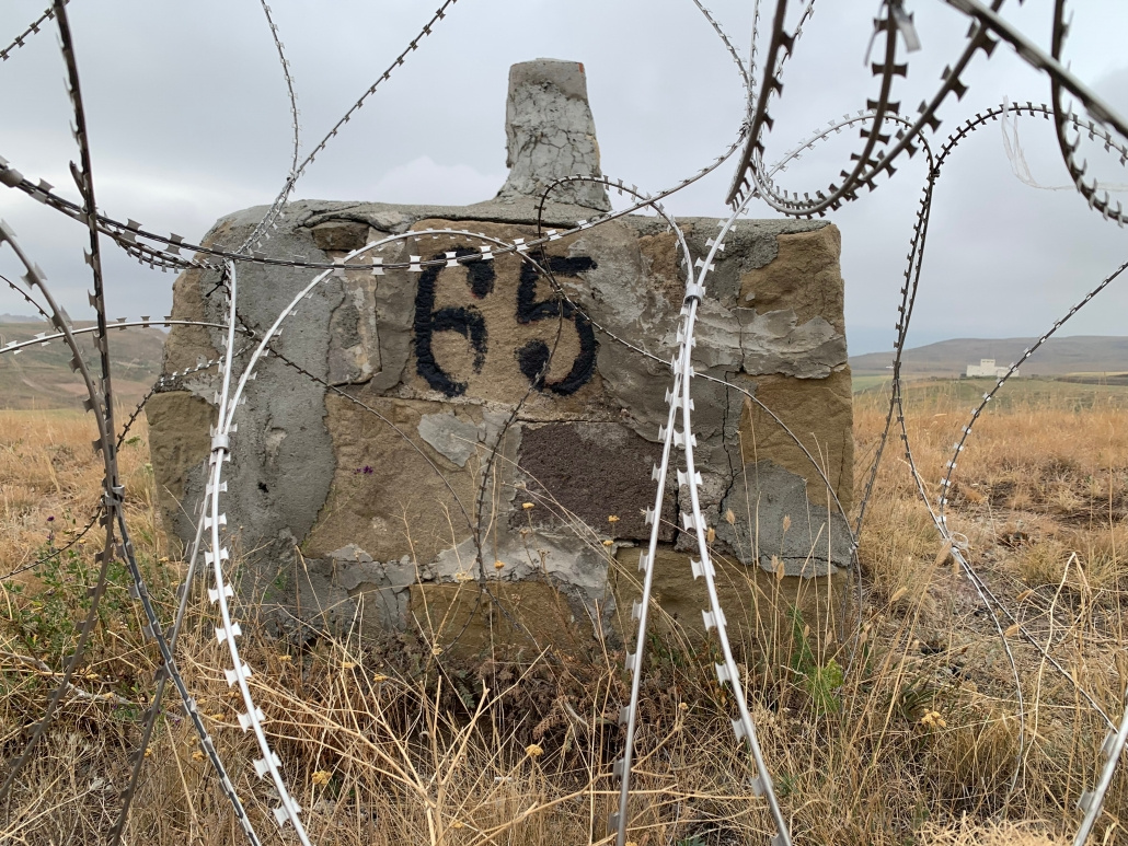 Border marker number 65 (Turkish north side) as it looks today.