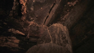One of the photos released by the discovery team of the inside of the wooden structure claimed to be part of the remains of the Ark which they found on Mt. Ararat.