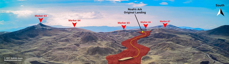 Noah's ark original landing and the border markers