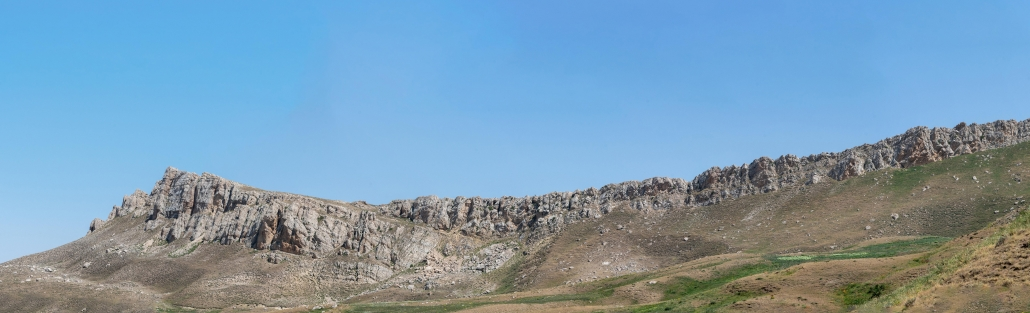 Part of the sedimentary rock escarpment ridge above Noah's ark.