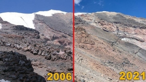 Mount Ararat glaciers are melting.